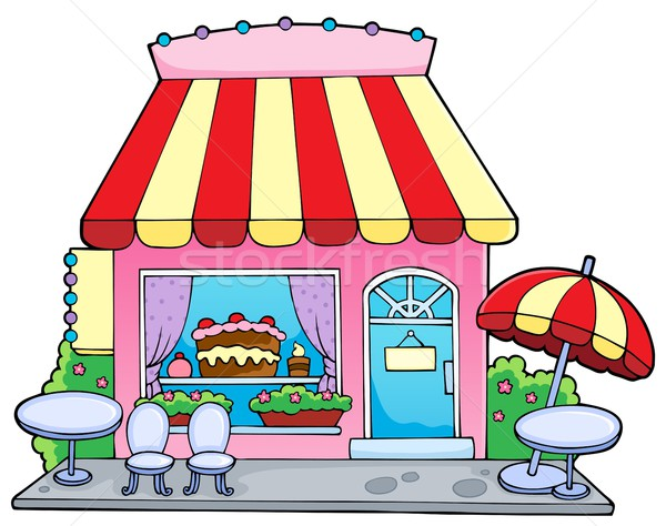 Cartoon Candy Store Vector Illustration © Klara Viskova