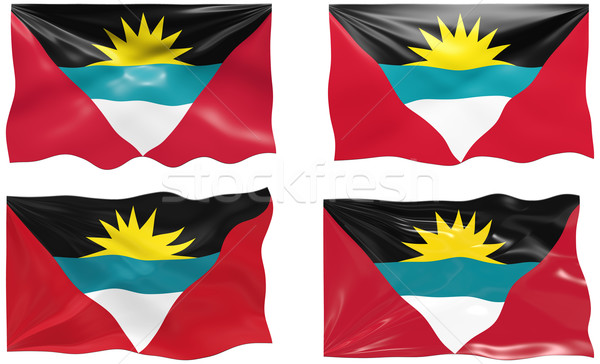 Stock photo: Flag of antigua barbuda
