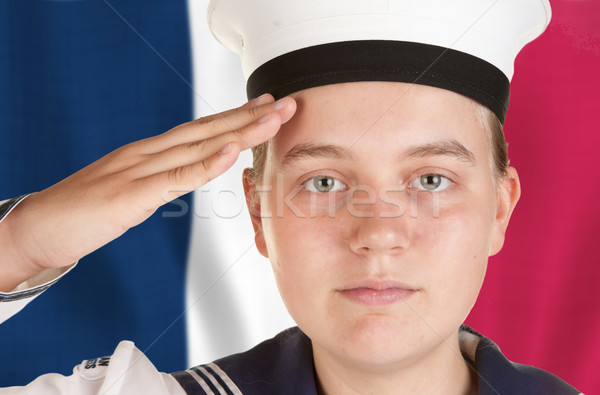 young sailor saluting isolated on white background stock photo male models picture