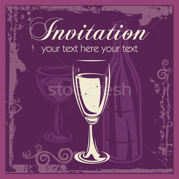 photo / Stock vector illustration : Vector Wine Ornamental Background