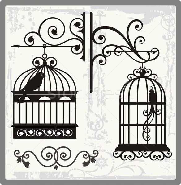 Vintage Bird Cage Clipart