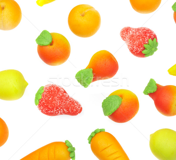 Stock photo: Sweets marzipan. In the form of fruit