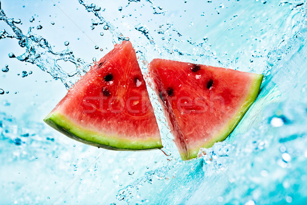 Stock photo: watermelon and water