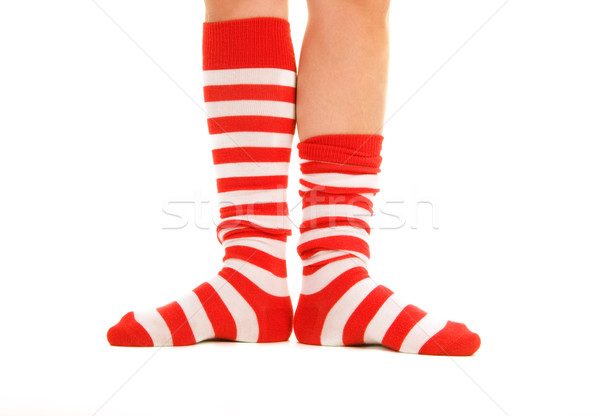 Stock photo: funny striped socks
