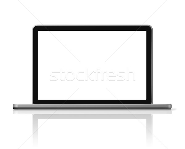Stock photo: Laptop computer isolated on white