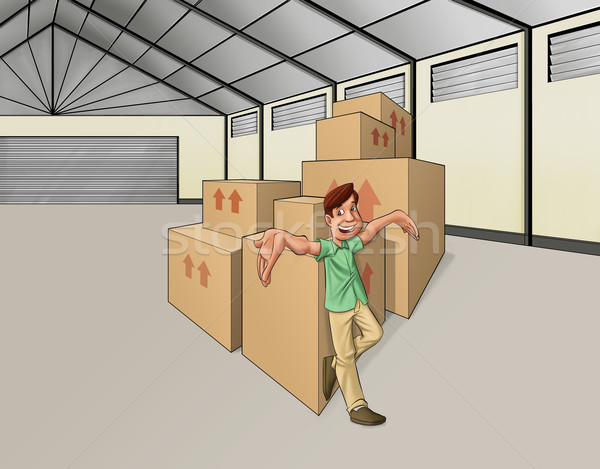 Stock photo: man in the warehouse