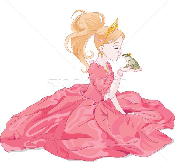 Фотообои принцесса поцелуи лягушка - princess * PIXERS.ru.