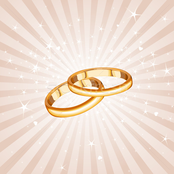 Stock photo: Wedding rings background