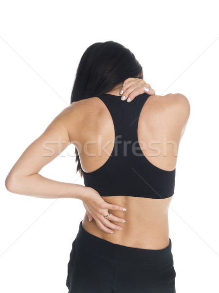 Stock photo: woman - neck and back pain