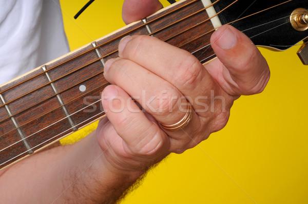 E Minor (Em) Guitar Chord stock photo © Paul Moore (diomedes66 ...