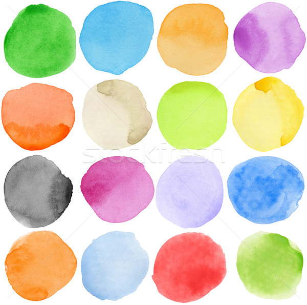 Stock photo: Watercolor circles