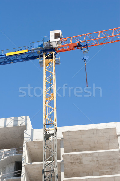 Stock photo: construction with crane