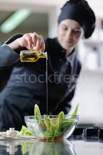 Stock photo: chef preparing meal