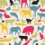 Stock photo: animals silhouette seamless pattern