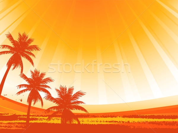 Stock photo: abstract palm trees