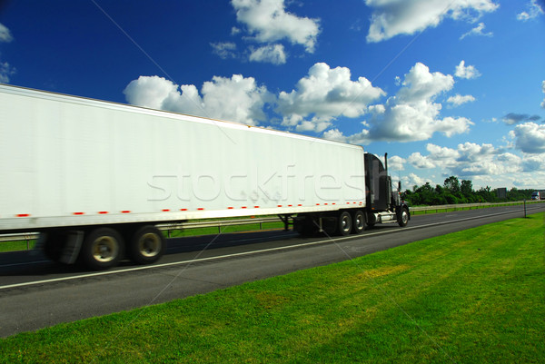 Stock photo: Fast moving truck