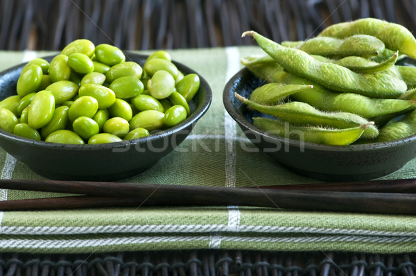 Stock photo: Soy beans in bowls