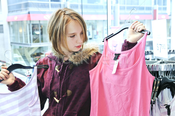 Teenage Girl Clothing Stores on Stock Photo Teenage Girl Shopping For ...