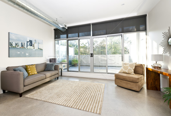 Stock photo: Modern living room and balcony