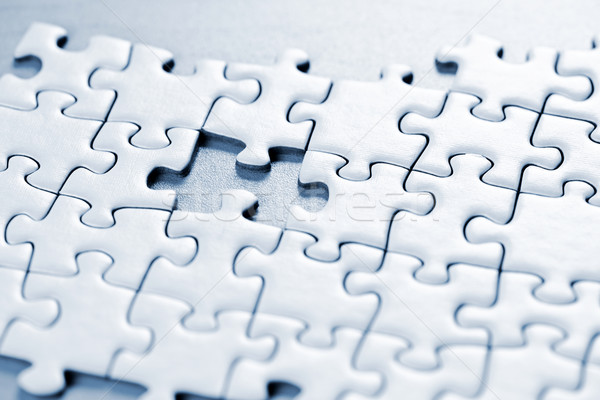 Stock photo: Missing puzzle piece