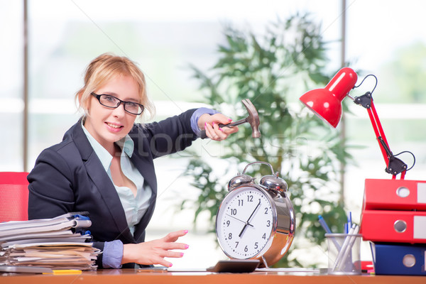 Stock photo: Businesswoman working in the office