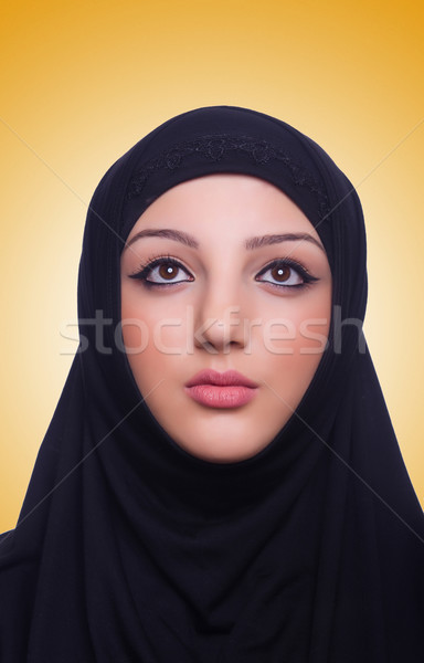 Stock <b>foto: Muslim</b> young woman wearing hijab on white - 6939380_stock-photo-muslim-young-woman-wearing-hijab-on-white