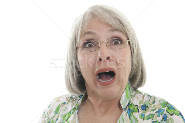 Stock photo: Scared woman