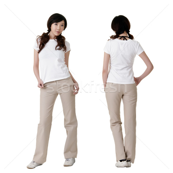 Stock photo: blank white shirt