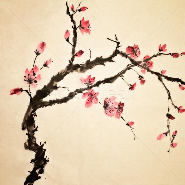chinese flower stock photo © peng guang chen elwynn, Beautiful flower