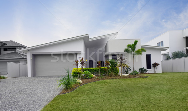 Stock photo: Modern townhouse exterior