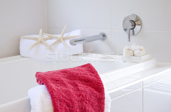 Stock photo: bathroom in modern townhouse