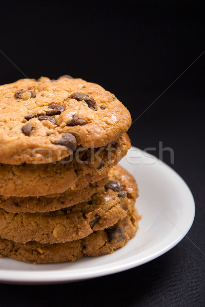 Stock photo: Hazelnut and chocolate cookies