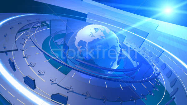 Stock photo: World Globe Digital Network Connection Background