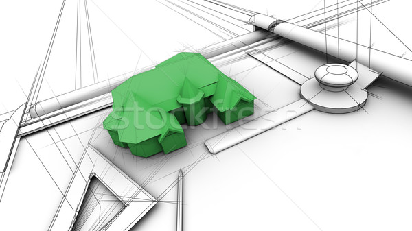 Stock photo: Designing a Green House