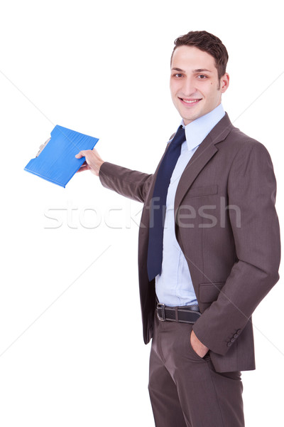 Stock photo: business man giving presentation