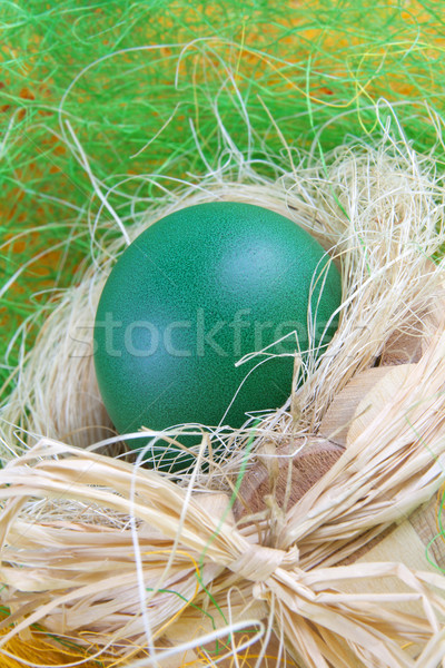 Stock photo: green easter egg