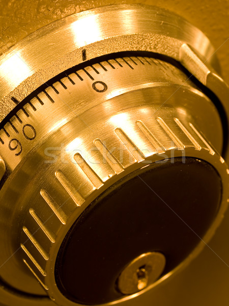 Stock photo: Closeup of a Safe Vault