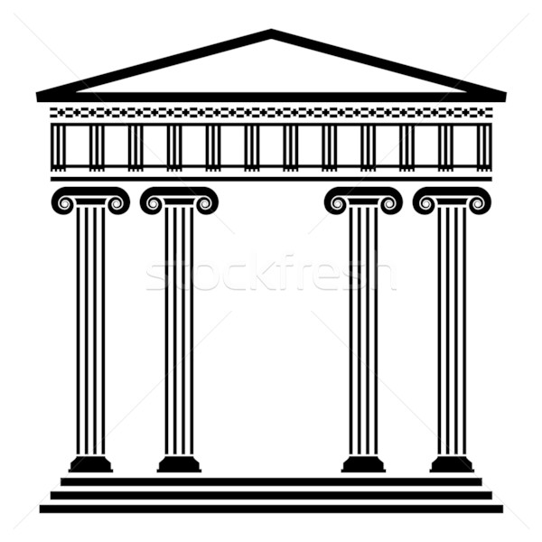 greek architecture coloring pages - photo#9