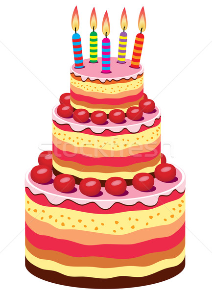 Vector Big Birthday Cake Vector Illustration 169 Dmitry