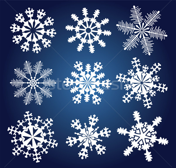 Stock photo: vector snowflakes