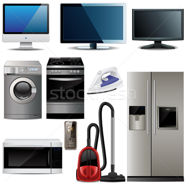 Stock photo: Household electronic elements