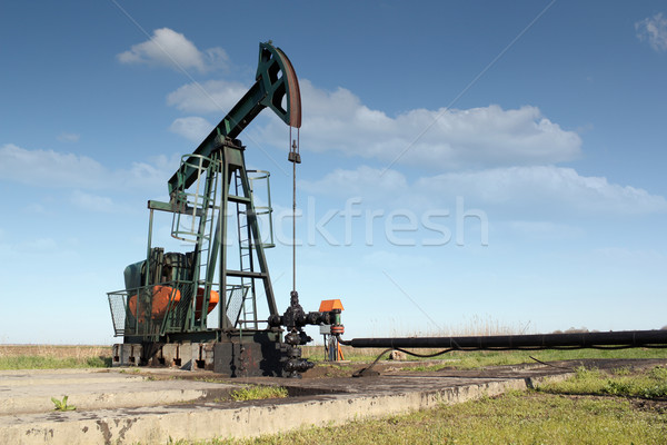 Stock photo: oil industry pumpjack