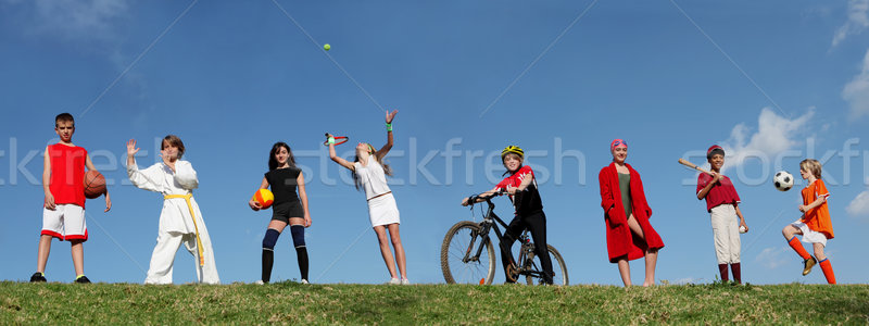 Stock photo: group of kids at sports camp