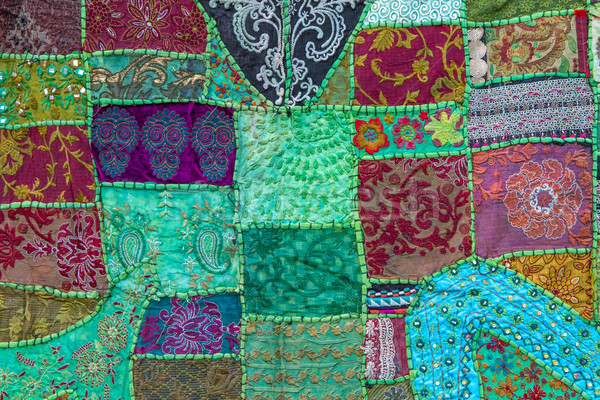 handmade patchwork quilt from india stock foto harald biebel haraldmuc 2038772 stockfresh. Black Bedroom Furniture Sets. Home Design Ideas
