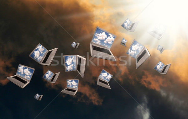 Stock photo: Cloudcomputing