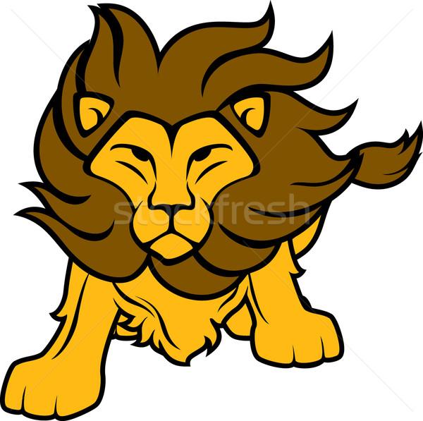 lion cartoon vector illustration © sergio hayashi ...