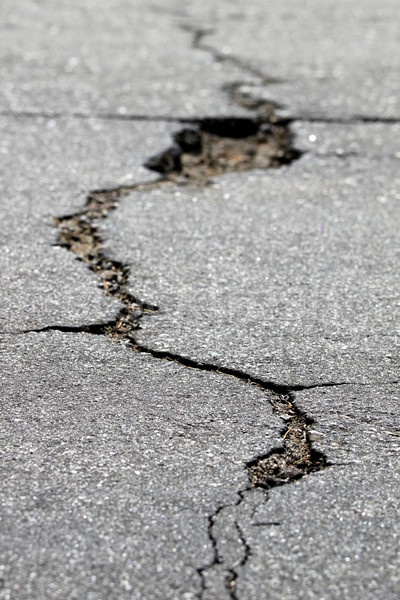 Stock photo: crack in the street