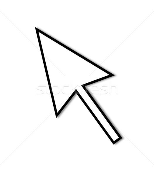 Stock photo: Cursor Arrow Mouse Black Line