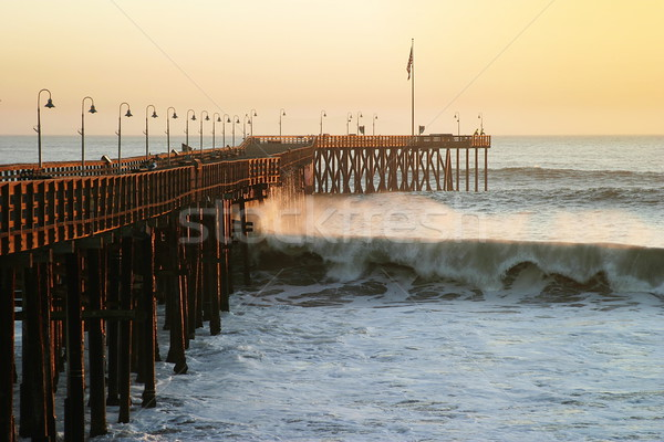 Stock photo: Ocean Wave Storm Pier