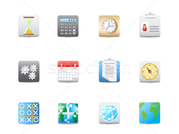 Stock photo: Business and office square icon